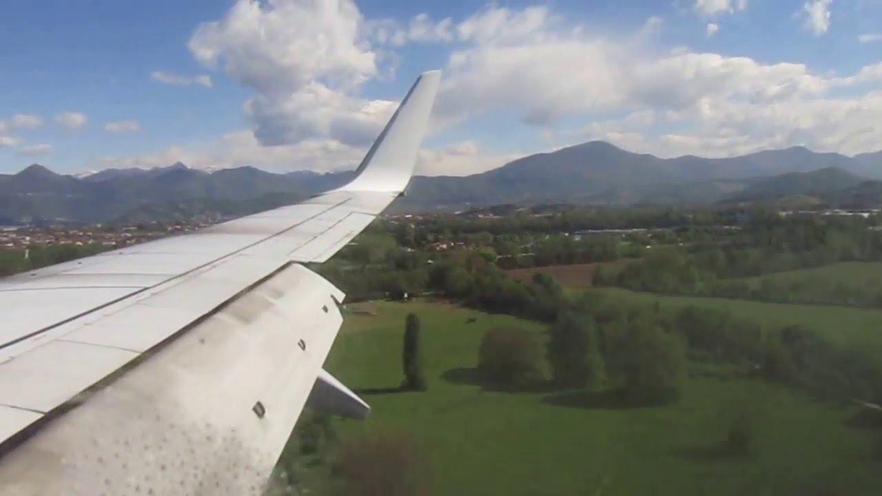 Atterraggio con rimbalzo volo Ryanair FR 5550 CGN-BGY - YouTube