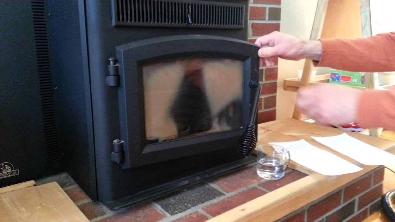 how to clean a pellet stove glass youtube