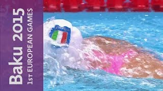 14-year-old Italian impresses in the pool | Swimming | Baku 2015 European Games