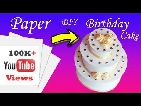 Paper Cake Tutorial | How to Make Birthday Cake | Aadhi's Paper Craft