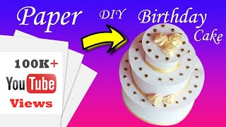 Paper Cake Tutorial   How to Make Birthday Cake   Aadhi's Paper Craft