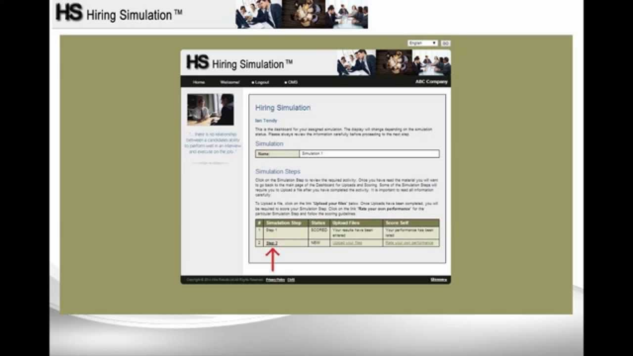 hiring simulation assessment candidate info hiring simulation assessment candidate info
