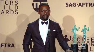 A Black Reporter Hits Sterling K. Brown With A Question On Diversity That Left Him Shocked!