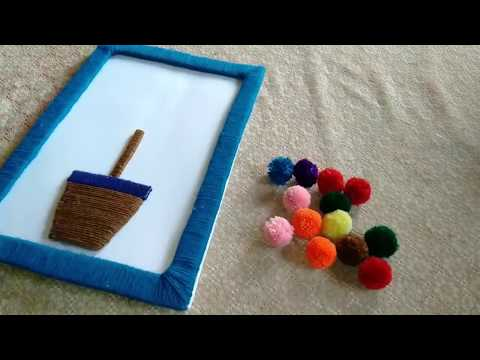 Hand Made || DIY Wall Hanging Decoration By Using Simple Woolen