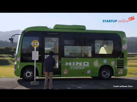 Japan test first Self driving bus🚌,Made by soft bank drive | startup selfie