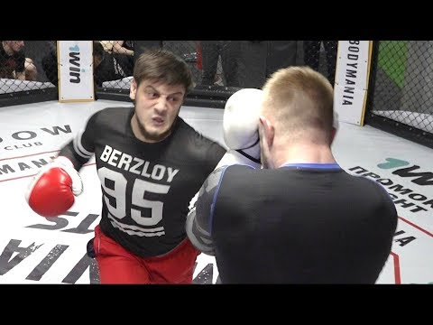 Бой Пулемётчик vs Моряк реванш по боксу после голых кулаков!