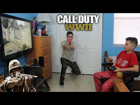 COD WW2  MAKING MY LITTLE BROTHER RAGE!!! SUPER ANGRY