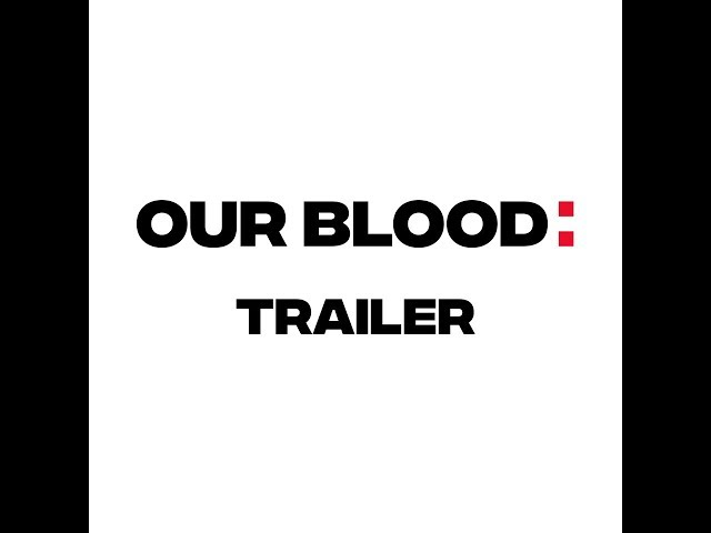 Frame of a video of Our Blood Trailer speaking about the Odyssey project