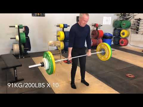 80 Year Old POWERLIFTER Mike Harrington Runs the show.