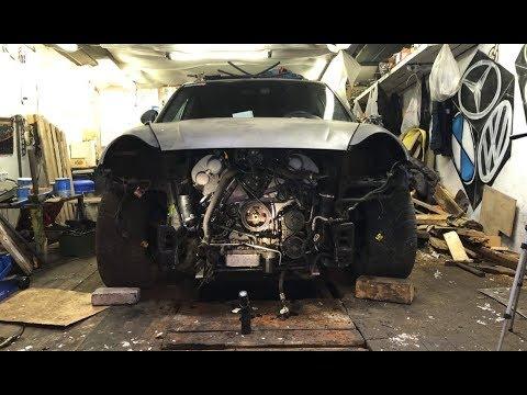 Одели кузов на мотор. Убитый Porsche Turbo S. Монстр 14.