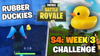 "Fortnite ""Search Rubber Duckies"" S4: Week 3 Battle Pass Challenge (Fortnite: Battle Royale)"