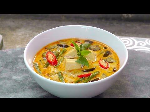 Thai Red Curry with Tofu – Vegan Vegetarian Recipe