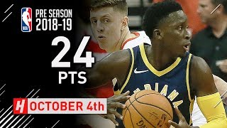 Victor Oladipo Full Highlights Pacers vs Rockets 2018.10.04 - 24 Points in 3 Qtrs!