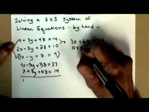 how to solve 3x3 system of equations