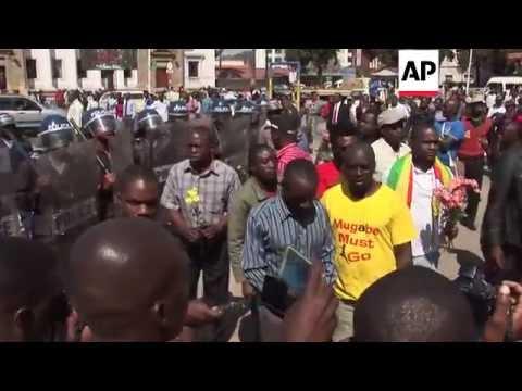 Zimbabwe - Police break up anti-government protest   Editor