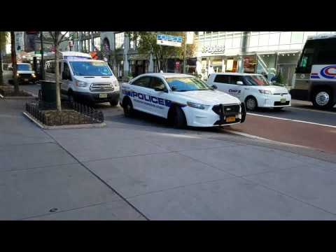 MTA Police Highway Patrol Car Parked Outside Penn Station On 34th Street In Manhattan, NY
