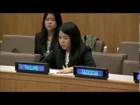 "Thai Youth Delegates to the 68th United Nations General Assembly on ""Advancement of Women"""