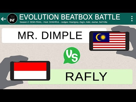MR DIMPLE 🇲🇾 vs RAFLY 🇮🇩 | SEMI-FINAL | Evolution Beatbox Battle (Season 2)