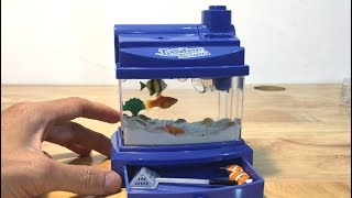 Working miniature toy aquarium