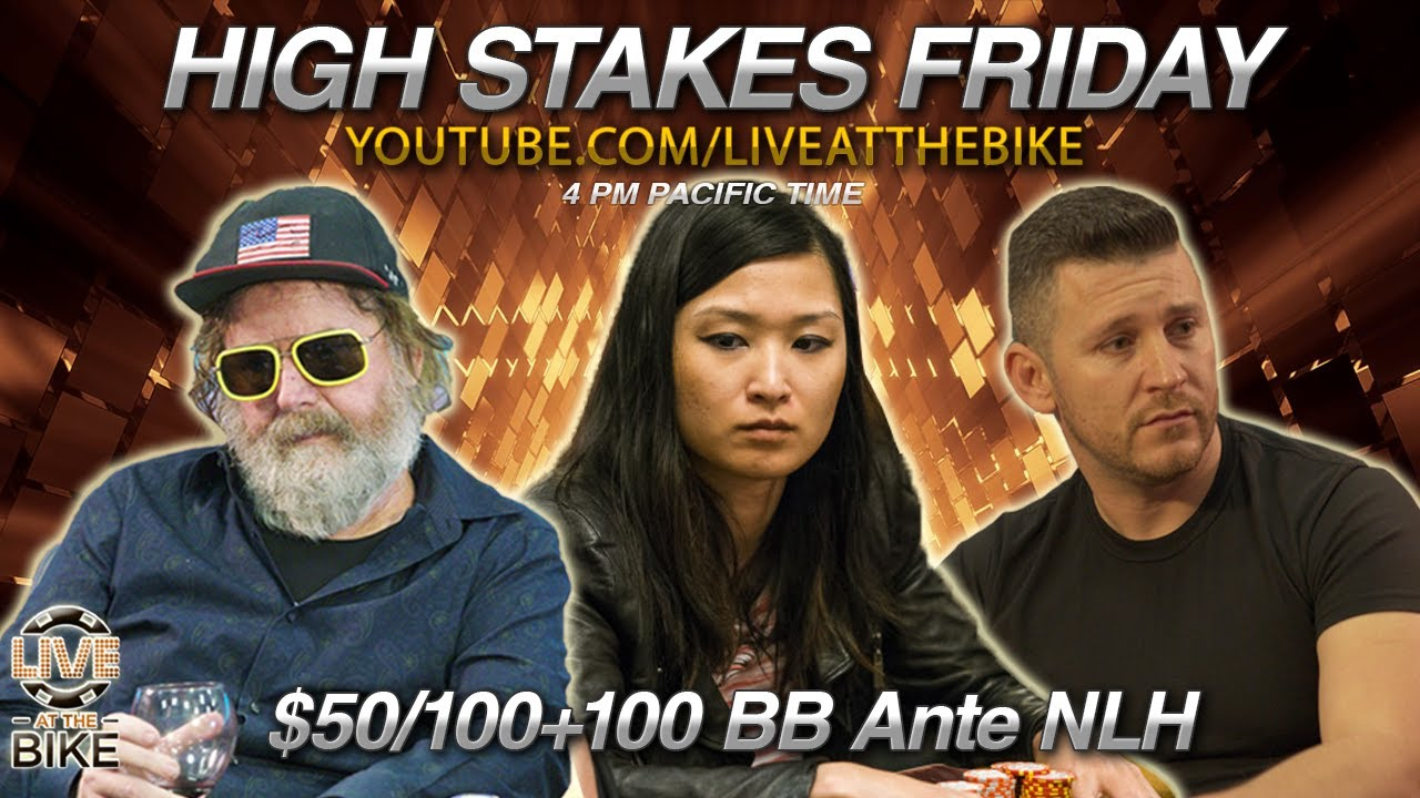 Download 🔴 ERIC HICKS Buys-in $100K! HIGH STAKES FRIDAY $50/$100+$100 BBA NLH! Live at the Bike! Poker Stream