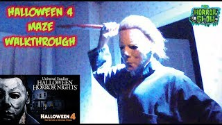 """Halloween 4"" Maze Walkthrough - Halloween Horror Nights 2018 - The Horror Show"
