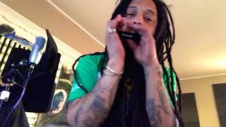 A Boogie Wit The Hoodie - Look Back At It Harmonica Cover