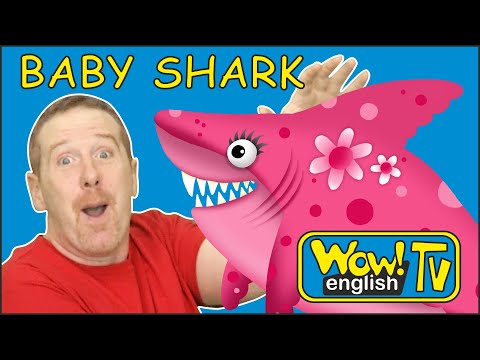 Baby Shark Song From Steve And Maggie For Children | Wow English TV