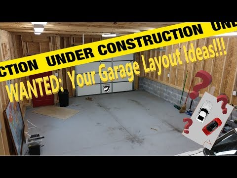 Moving out...to move back in!  Garage update and Questions about future shop/studio layout!