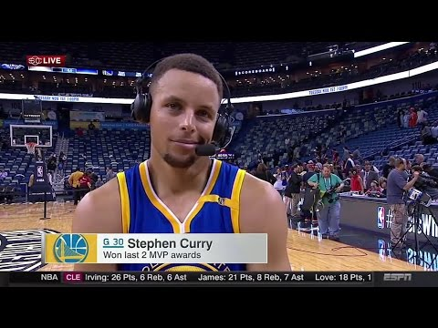 Stephen Curry Interview After Warriors Defeat Pelicans (FULL)