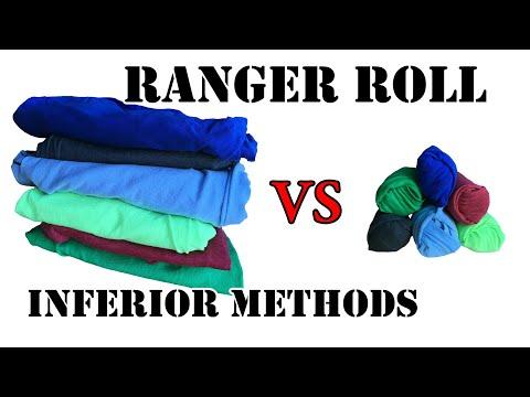 Which packing method is better? - Ranger Roll VS Folding