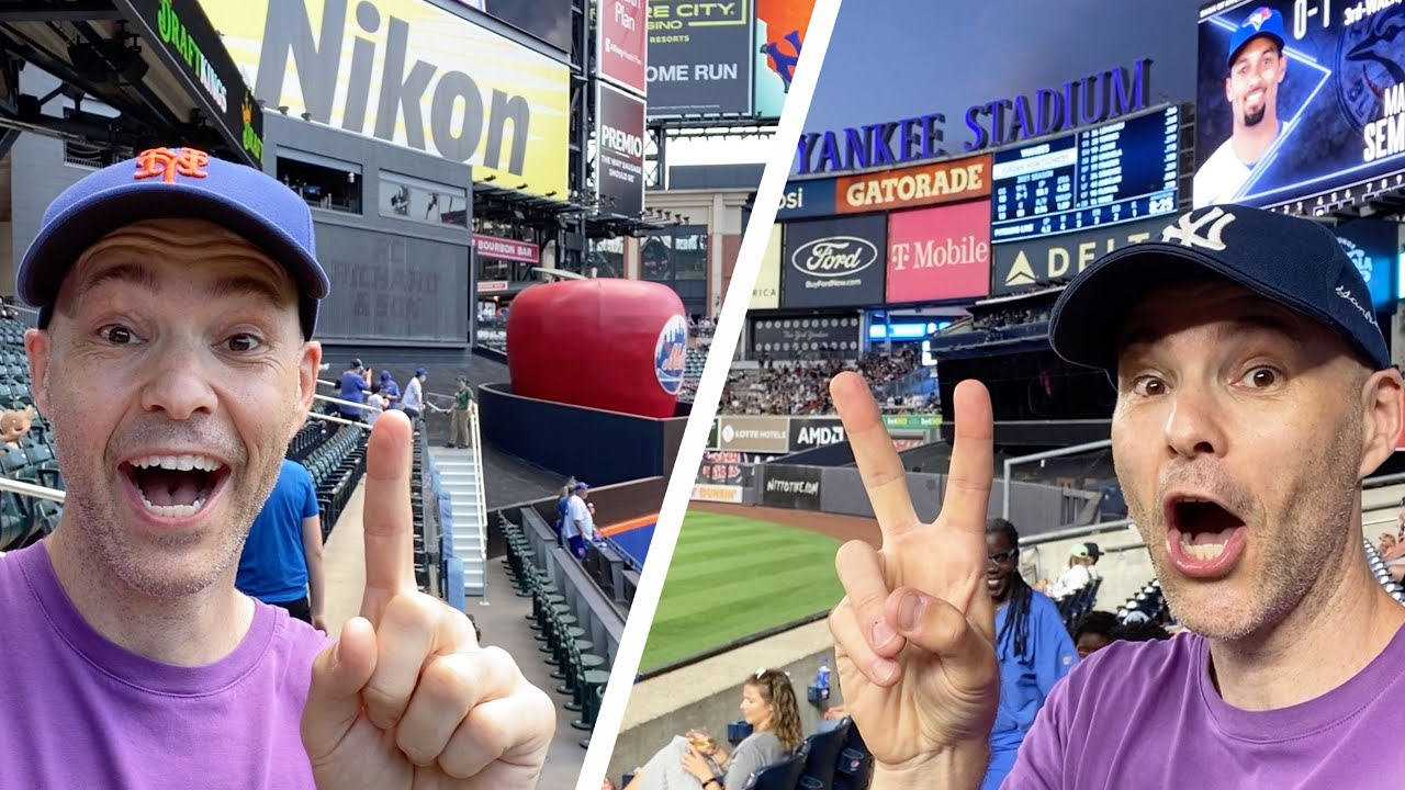 Attending FOUR MLB GAMES in ONE DAY at two stadiums!! (Citi Field & Yankee Stadium)