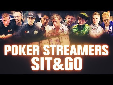 TOP 9 Poker Streamers SNG battle it out LIVE streaming on TWITCH!