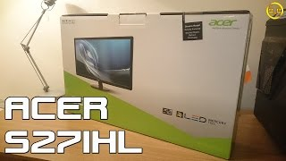 Acer S271HL Dbid - 27 inch Monitor - (Unboxing & Overview)