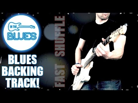 Fast Chicago Style Blues Shuffle Backing Track in G