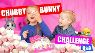 DE CHUBBY BUNNY CHALLENGE Q&A!! [+Favoriete Fortnite Dansjes en meer!]♥DeZoeteZusjes♥