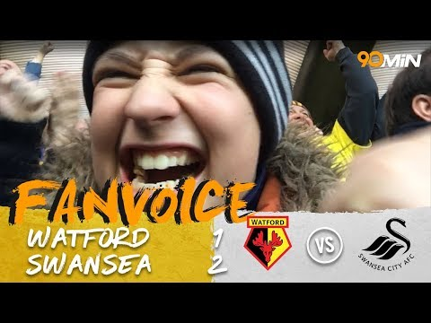 Carrillo, Ayew & Narsingh score in Swansea last minute win! | Watford 1-2 Swansea | 90min FanVoice