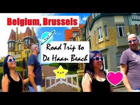 Belgium Travel Vlog | Road Trip To De Haan Beach | Belgium, Brussels