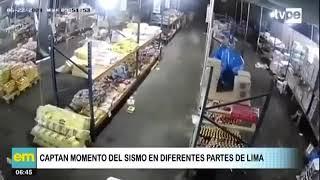 Ciudadanos captan momento del sismo en Mala y Lima