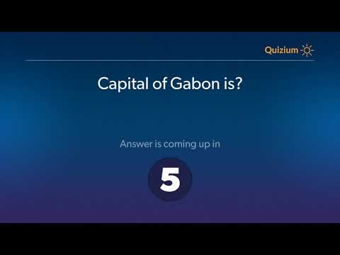 Capital of Gabon is?   Countries and Capitals Quiz