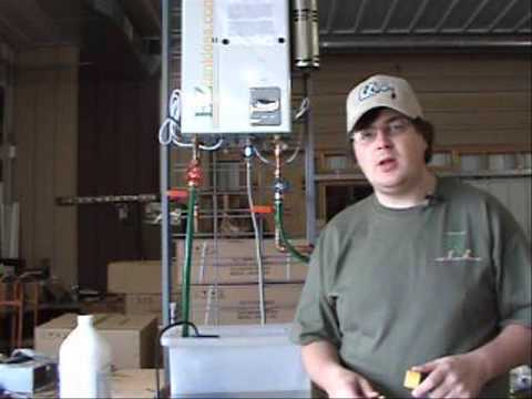 Tankless Water Heater Flushing Cleaning Youtube