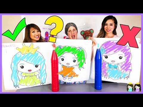 GREEDY GRANNY in Giant 3 Marker Challenge with Princess ToysReview
