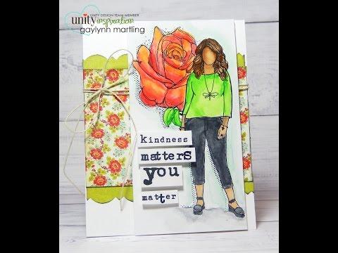 Gaylynn NeatThingsBtq Watercolor Girl & Rose Flower