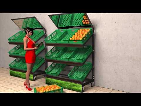 Стеллаж для фруктов и овощей. Торговое оборудование BENDVIS