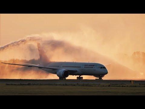 FIRST Flight! Air India Boeing 787 Landing & Takeoff at Copenhagen Airport