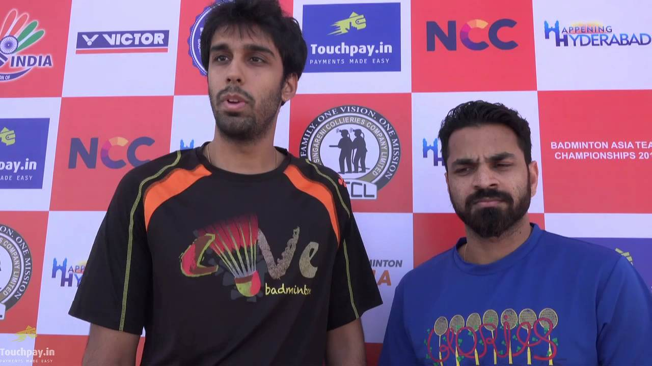 Pranaav Jerry Chopra and Akshay Dewalkar withTouchpay Pre Match