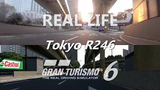 Gran Turismo 6 vs Real Life - Tokyo R246