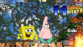 MUGEN battle #707: Rocky & Bullwinkle vs Spongebob & Patrick