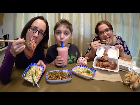 Chinese Food: Pekin Duck, Mousse And Bubble Tea | Gay Family Mukbang (먹방) - Eating Show