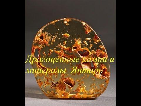 Драгоценные камни и минералы Янтарь ( Amber )