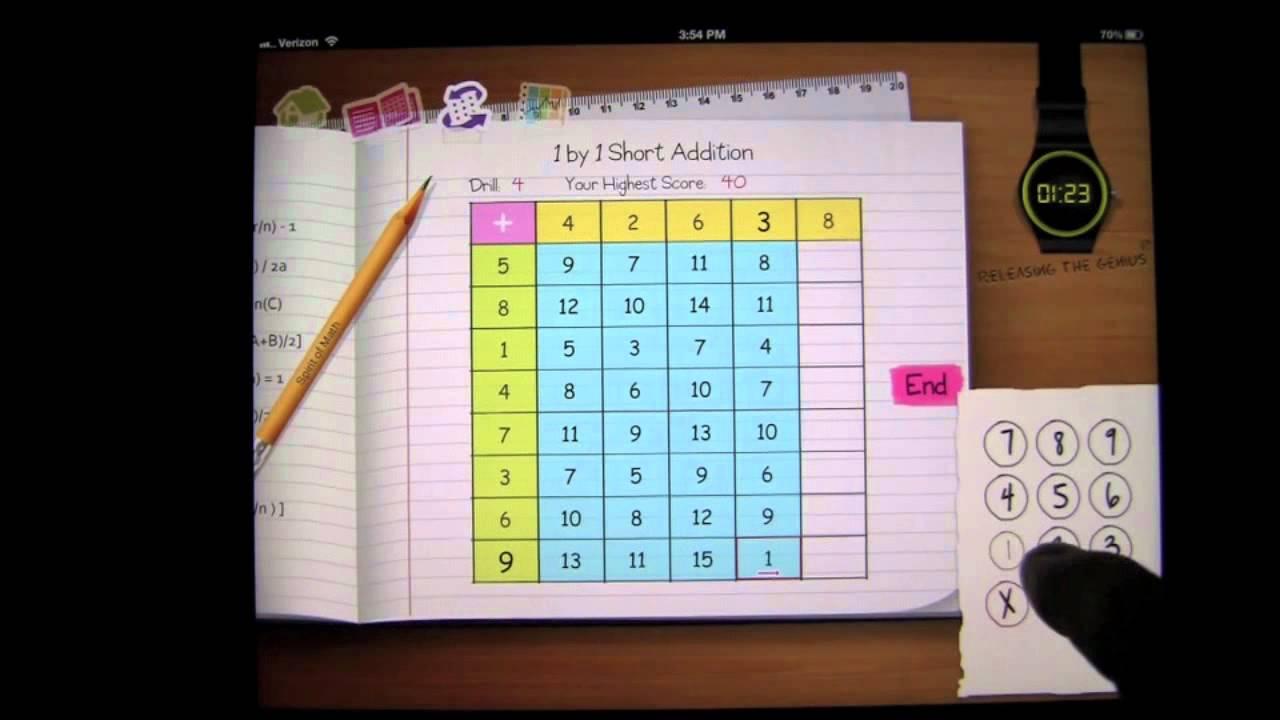 Spirit of Math Drills iPad App Review - CrazyMikesapps - YouTube